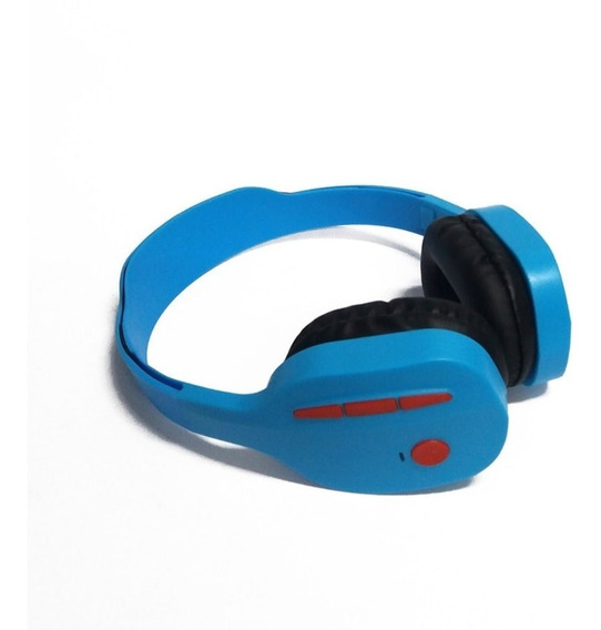 Fone De Ouvido Bluetooth Kp-440 Azul Knup