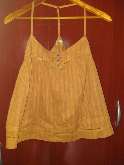 India Style Musculosa Top Boho T1 Impecable!