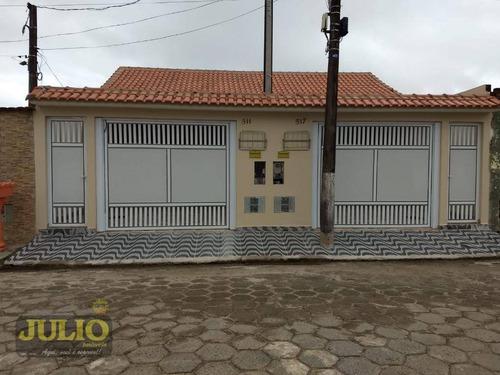 Entrada R$ 53 Mil E Saldo Financiado! Casa Com 2 Dormitórios, 65 M² Por R$ 265.000 - Oceanópolis - Mongaguá/sp - Ca3920