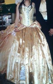 Vestido Xv Años Color Oro Rosado