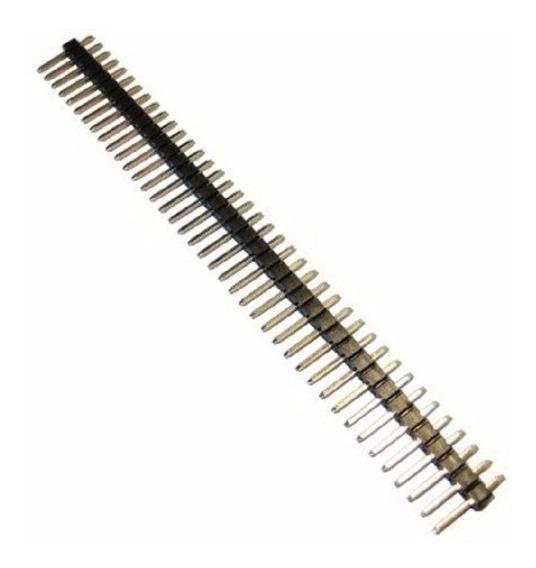 10 Unidades Conector Barra Pino Macho 1x40x11,2 180º Arduino
