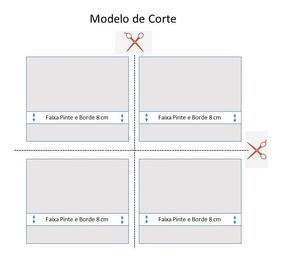 Pano De Boca Multi Arte Branca 35x35cm Dohler - Kit C/ 12