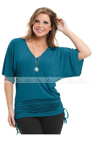 Blusa Feminina Plus Size Em Malha Manga Curta Tamanhos Grandes Camisetas Vestidos Plus