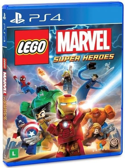 Lego Marvel Super Heroes - Ps4 - Mídia Física - Novo