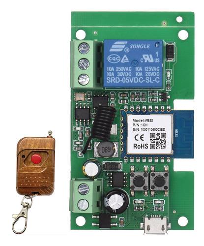 Imagen 1 de 9 de Tuya 1ch Dc5v/7-32v Wifi Interruptor Inalámbrico Relé Módulo