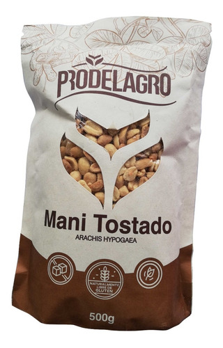 Maní Tostado Natural, Sin Sal Bolsa X 500 Grs