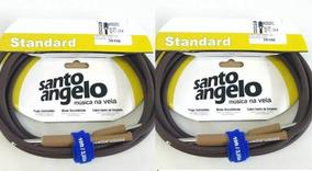 Cabo Violao Santo Angelo 15ft 4.57m P10 P10 Profissional Kit