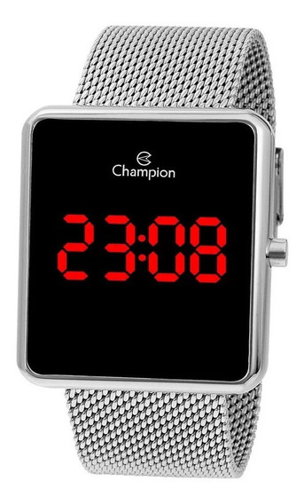 Relógio Champion Original Digital Unissex Prateado Ch40080t