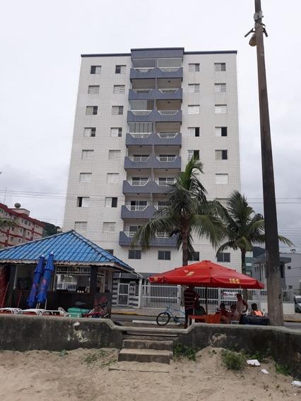 3808 - Apartamento Centro De Mongaguá Frente Ao Mar 4 Dorms