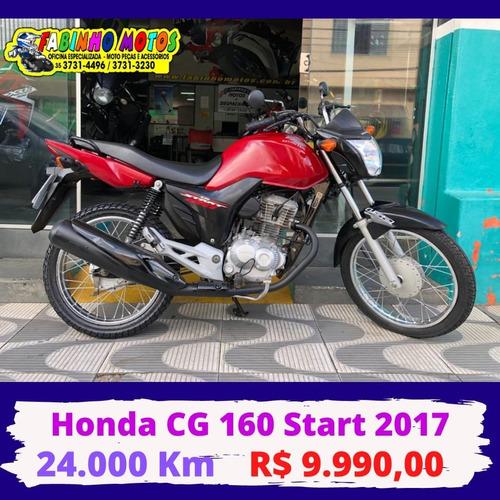 Honda Cg 160 Start 2017 Vermelha Novíssima!!!
