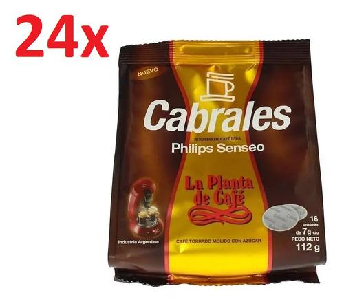 24x Cafe Cabrales La Planta Hd1286 Philips Senseo Capsulas