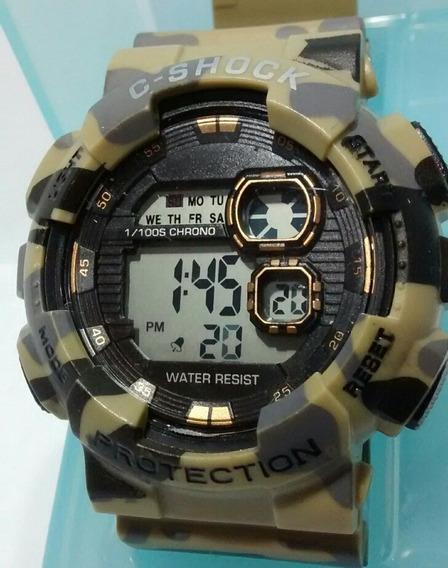 Relógio Militar Masculino Camuflado Ant Shock Digital Barato