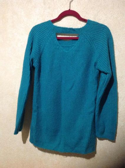 Suéter Largo De Punto L