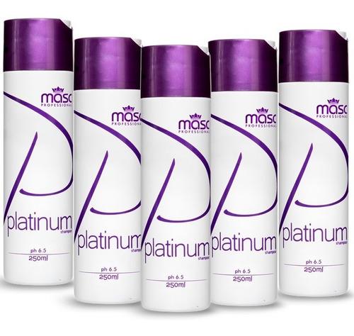 Combo 6 Shampoo Platinum Matizador Masc Professional 250ml