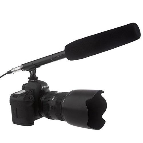 Microfono Unidireccional Con Clip Para Camara, Tipo Cañon