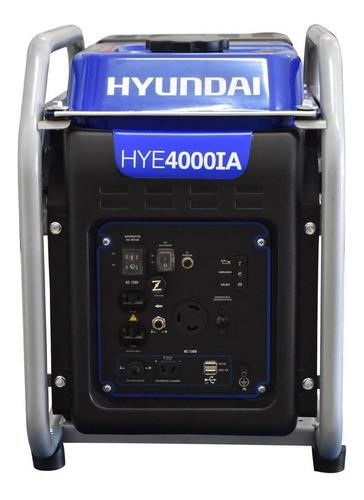 Imagen 1 de 4 de Generador portátil Hyundai HYE4000IA 4 kW con tecnología Inverter 110V