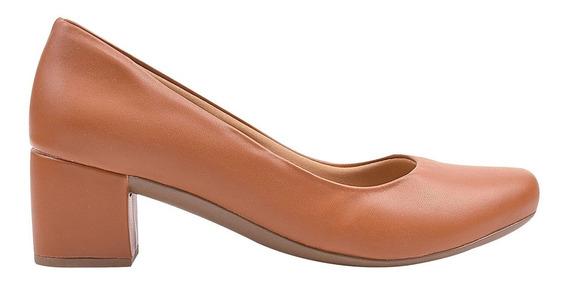 Sapato Scarpin Feminino Anabela Salto Médio Eleganteria