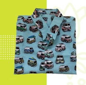 Camisa Masculina De Botão Estampada Casual Kombi Cool Style