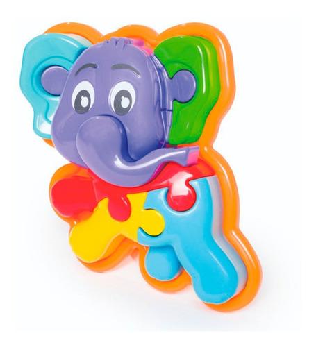 Quebra Cabeça Didático Animal Puzzle 3d Elefante Calesita