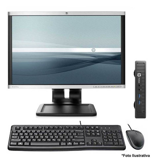 Computador Hp Mini 600 Core I5 4gb Ssd 240gb Wifi Monitor 22