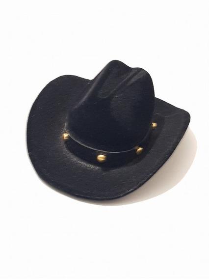 Estuche De Sombrero Negroa Para Anillo Aretes O Dije So01