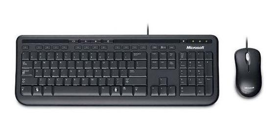 Teclado E Mouse Microsoft 600 Com Fio
