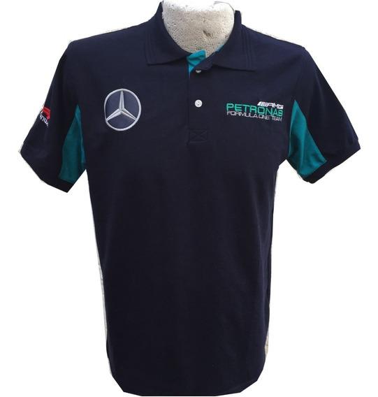 Playera Petronas Azul Marino Mercedes Benz