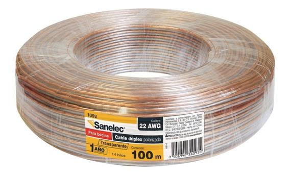 Cable Para Bocina 22awg Transparete Sanelec