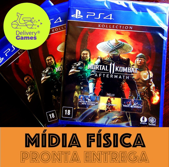 Mortal Kombat 11 Aftermath Kollection Ps4 Mídia Física Novo