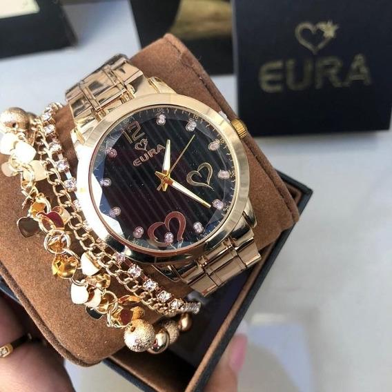 Relógio Eura Fundo Preto