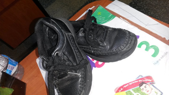 5 Zapatos Niños Marca Clark Talla 25,5 Negro Escolar