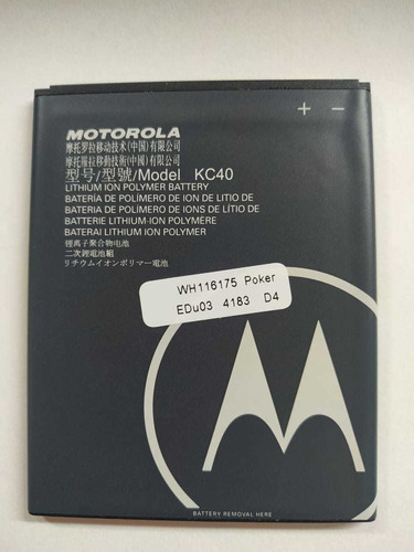 Imagen 1 de 1 de Bateria Kc40 Moto E6 Plus (xt2025-2)