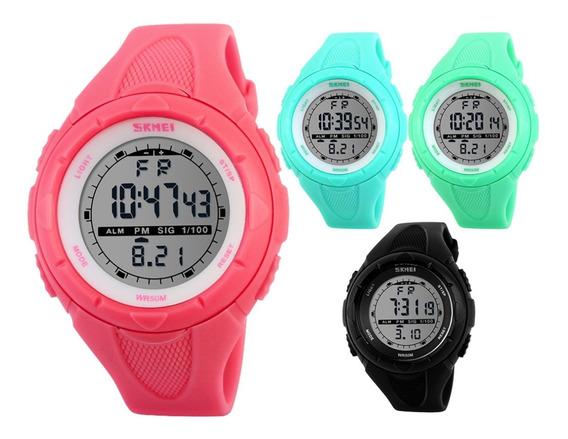 Relógio Feminino Skmei 1074 Digital Esportivo Azul Promoção
