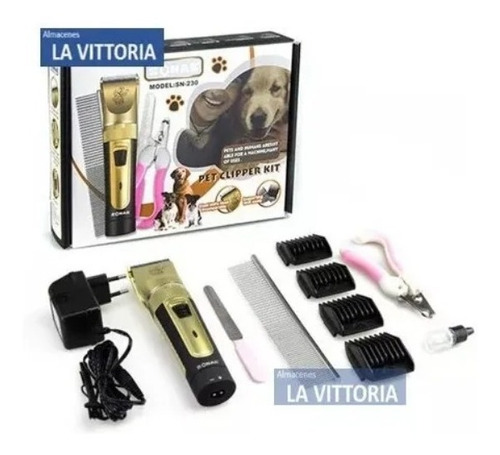 Imagen 1 de 4 de Kit De Rasuradora Para Mascotas + Cortauñas + Accesorios