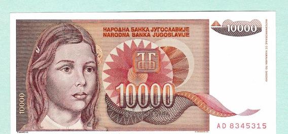 Yugoslavia 1992 Billete De 10000 Dinara Sin Circular