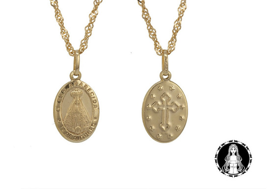 Medalha Nossa Senhora Aparecida De Ouro 18k