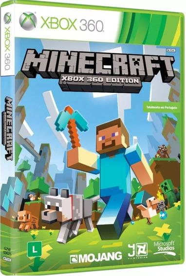 Minecraft - Jogo Para Xbox 360 Original Mídia Física - Novo