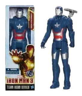 Muñeco Iron Man Iron Patriot 30cm Hasbro Original