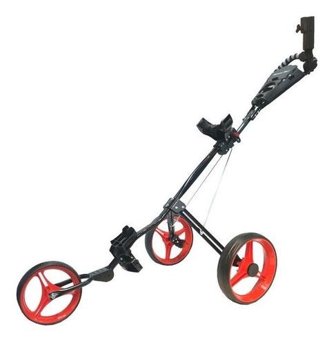Imagen 1 de 4 de Golf Center Carro Powerbilt 3 Ruedas C/portap Black/red 6c