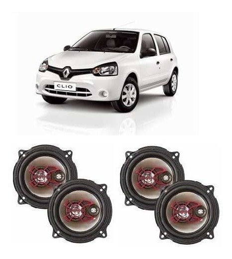 Kit 4 Alto Falantes Bravox 5 Polegadas Renault Clio