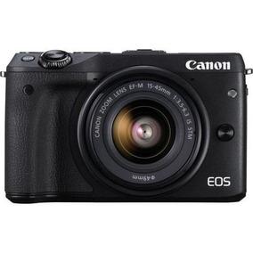 Canon M3+lente 15-45mm+cartão Sd32gb