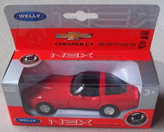 Chevrolet Corvette Coupé 1982 A Escala Welly Diecast 1/36