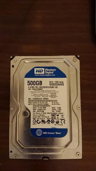 Hd Western Digital 500gb Sata Para Pc Wd5000aaks+case Extern