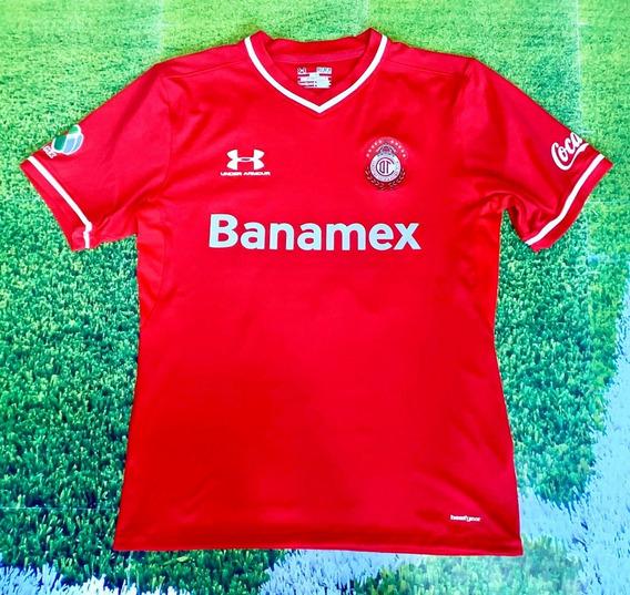 Camiseta Del Toluca De Mexico 2012 42 Silva De Coleccion !!