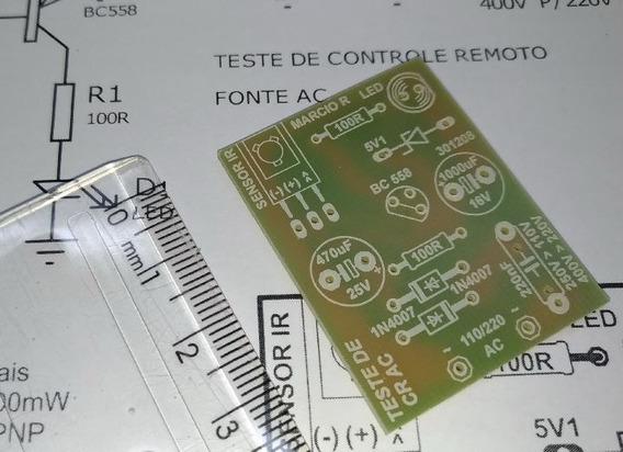 Placa P/ Montar Teste De Controle Remoto Ac - Fibra