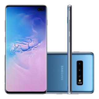 Samsung Galaxy S10+ G975f 128gb Dual Azul Mancha Tela