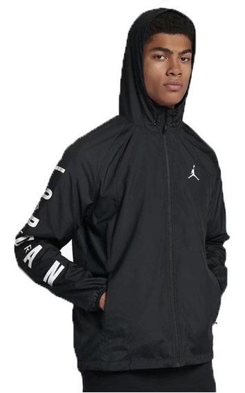 Jaqueta Corta Vento Nike Air Jordan Masculina Preta Branco