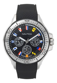 Relógio Náutica Masculino Multifunções Preto Napauc009