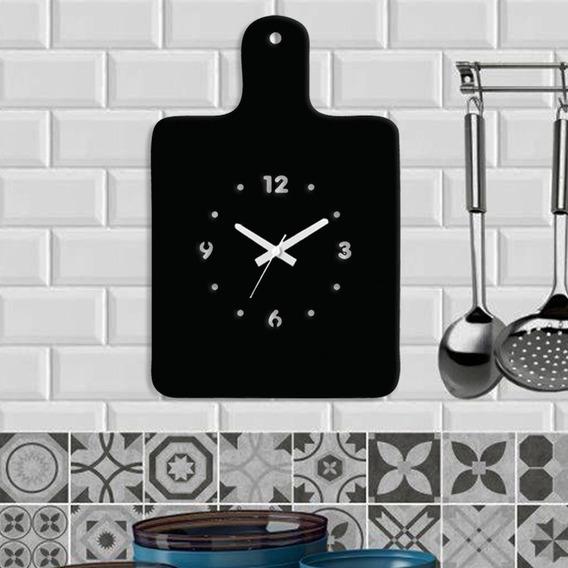 Relógio De Parede Decorativo - Modelo Tábua De Corte Cozinha