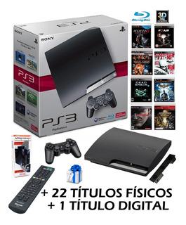 Playstation 3 Hdd 250gb 22 Titulos Fisicos Control Bluray Hd